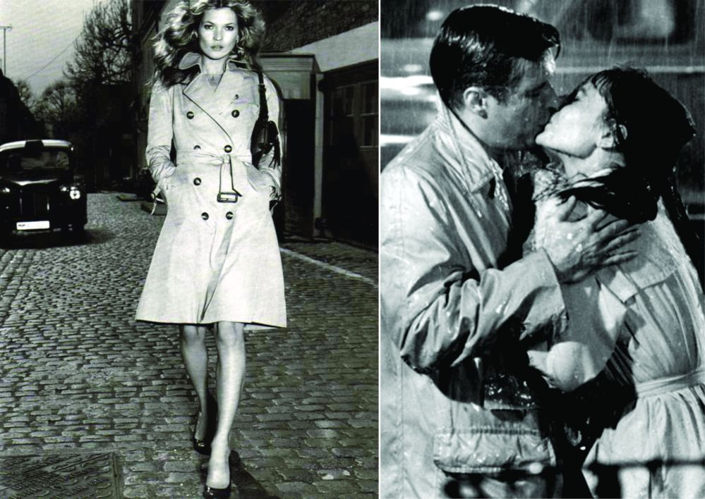Propaganda Burberry e cena do filme Bonequinha de Luxo