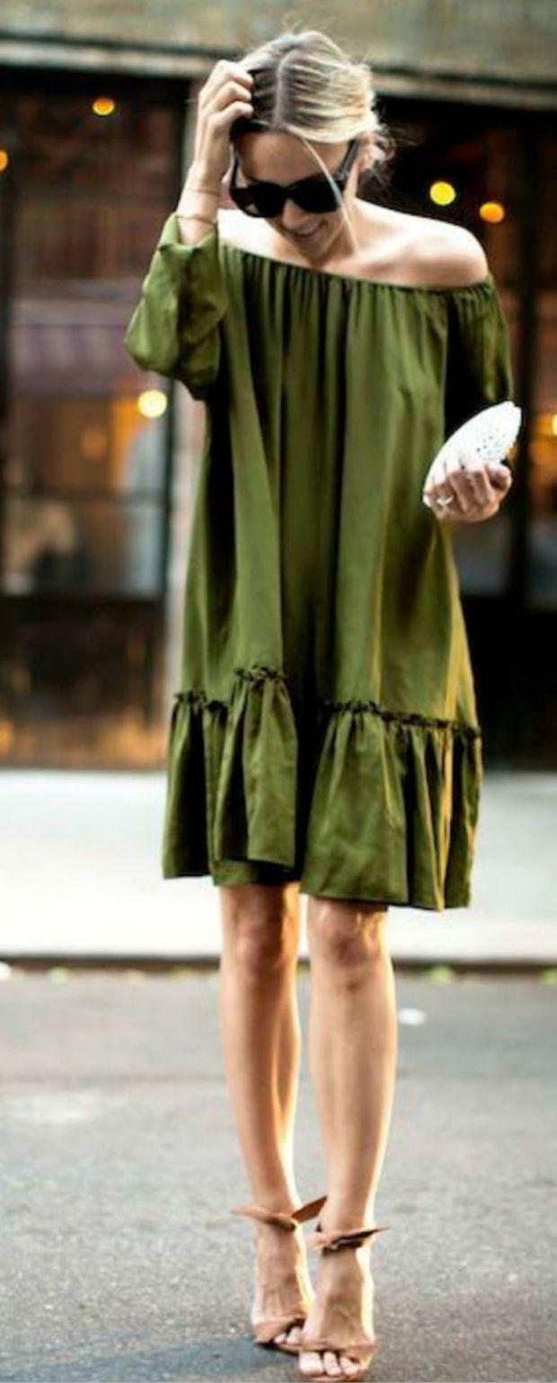 vestido verde miliatar